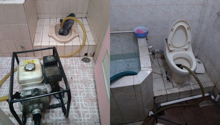 Cara mengatasi WC jongkok mampet